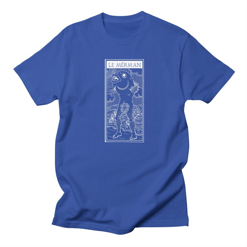 The Merman (dark shirt version) Men's T-Shirt by Creaturista's Fine Goods