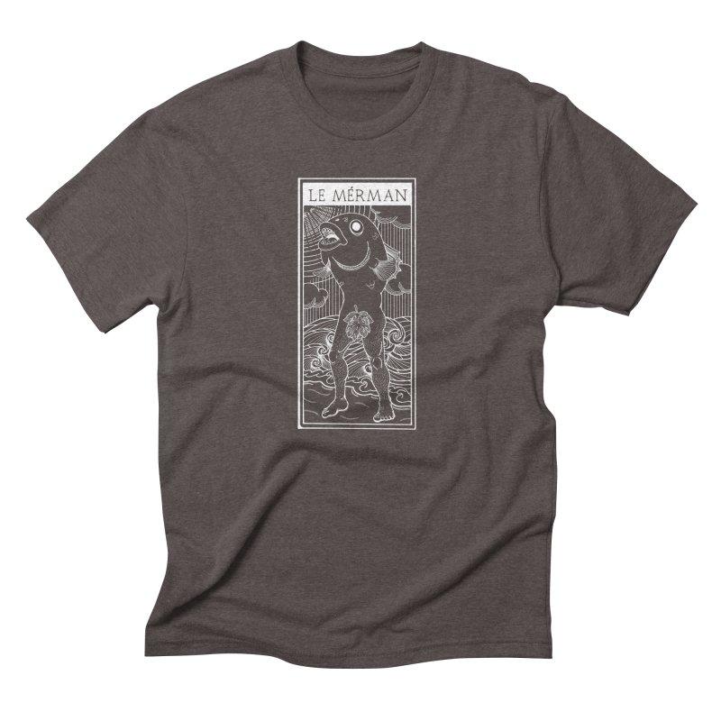 The Merman (dark shirt version) Men's Triblend T-Shirt by Creaturista's Fine Goods