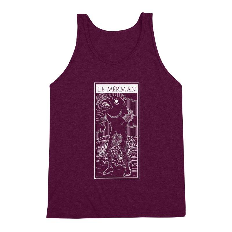 The Merman (dark shirt version) Men's Triblend Tank by Creaturista's Fine Goods