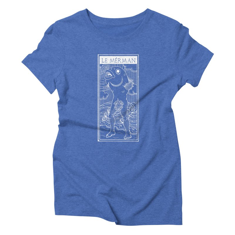 The Merman (dark shirt version) Women's Triblend T-Shirt by Creaturista's Fine Goods