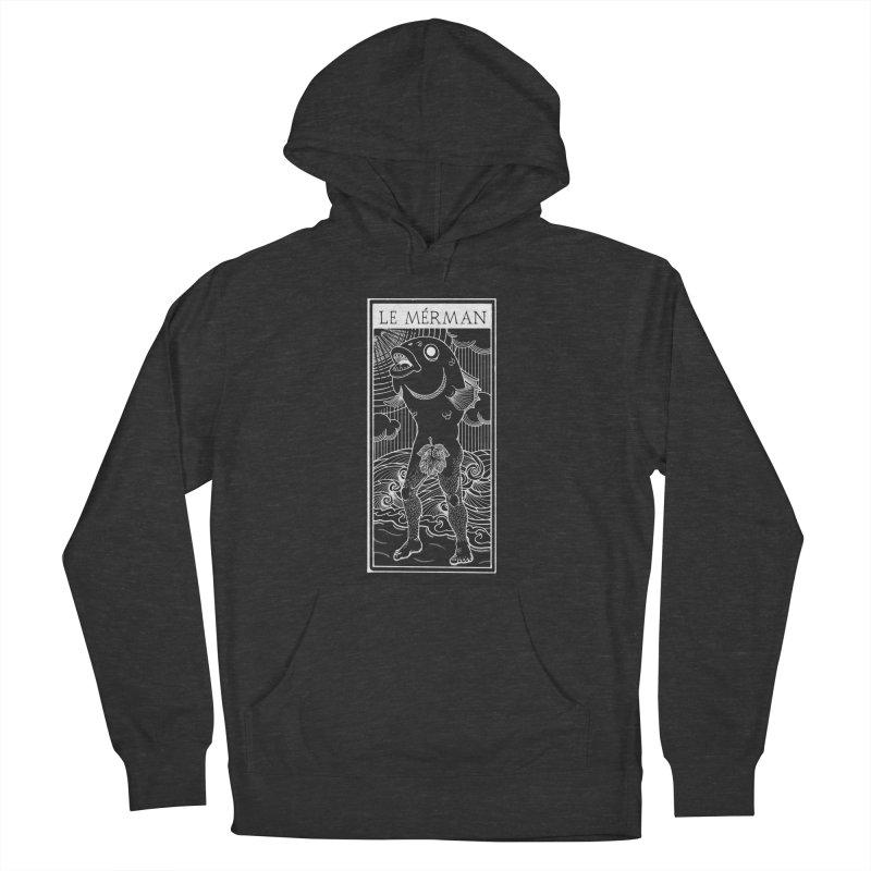 The Merman (dark shirt version) Women's French Terry Pullover Hoody by Creaturista's Fine Goods