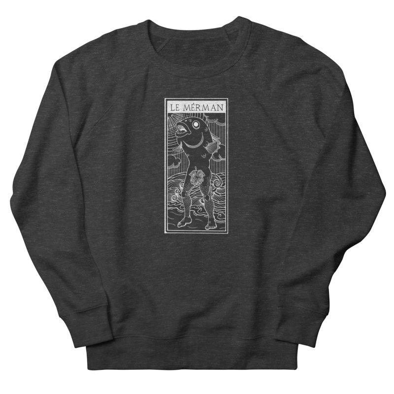 The Merman (dark shirt version) Women's French Terry Sweatshirt by Creaturista's Fine Goods