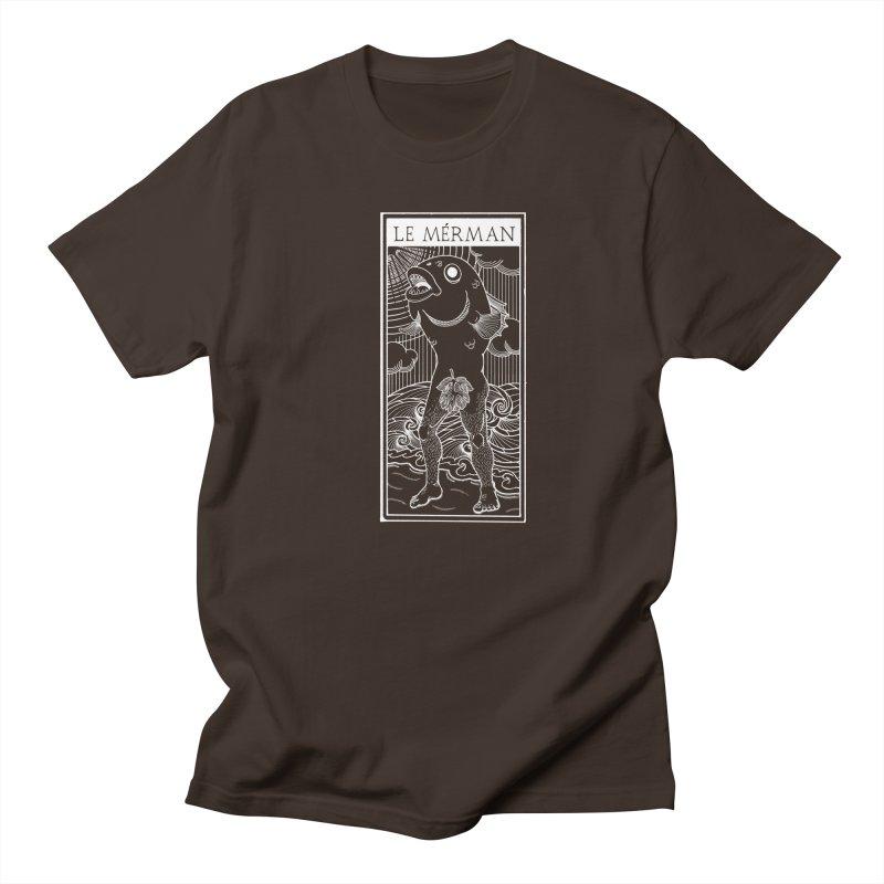 The Merman (dark shirt version) Men's Regular T-Shirt by Creaturista's Fine Goods