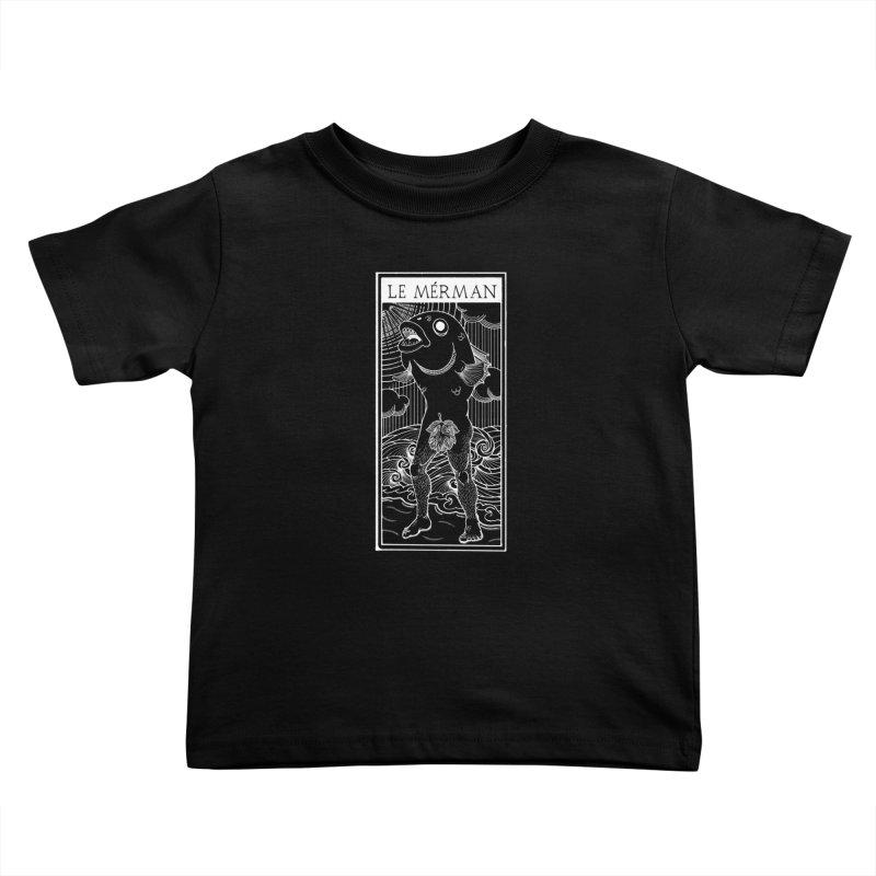 The Merman (dark shirt version) Kids Toddler T-Shirt by Creaturista's Fine Goods