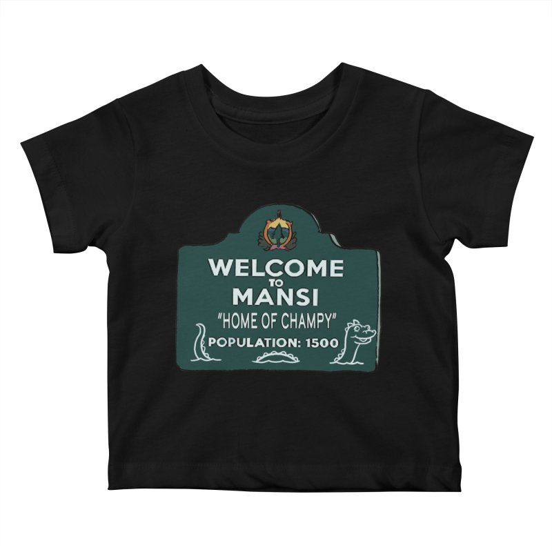 Welcome To Mansi Kids Baby T-Shirt by Official Creepshow Store