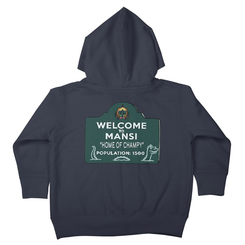 Welcome To Mansi Kids Toddler Zip-Up Hoody by Official Creepshow Store