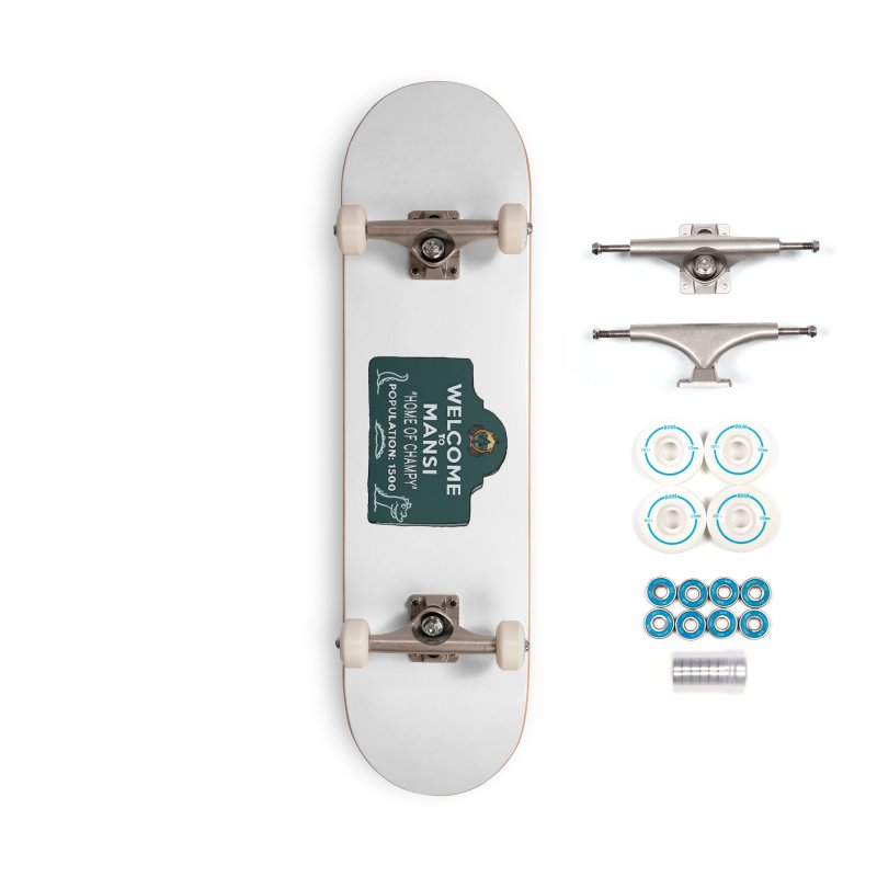 Welcome To Mansi Accessories Skateboard by Official Creepshow Store