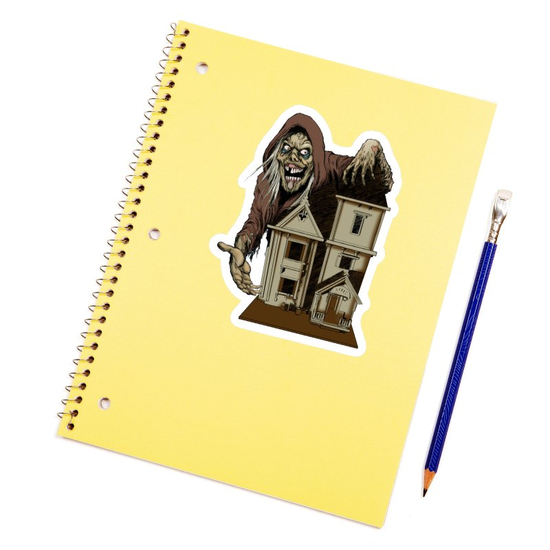 Creep Doll House Accessories Sticker by Official Creepshow Store