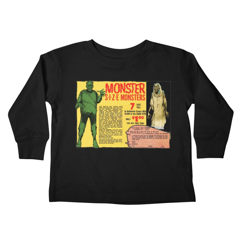 Monster ad Kids Toddler Longsleeve T-Shirt by Official Creepshow Store