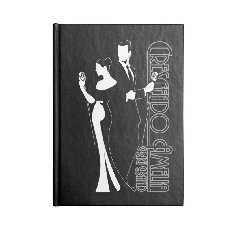 Crescendo Amelia Big Band - Silhouette Accessories Lined Journal Notebook by Crescendo Amelia Merchandise
