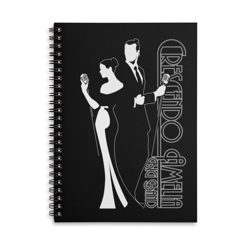 Crescendo Amelia Big Band - Silhouette Accessories Lined Spiral Notebook by Crescendo Amelia Merchandise