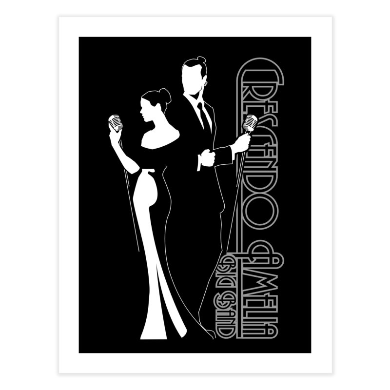 Crescendo Amelia Big Band - Silhouette Home Fine Art Print by Crescendo Amelia Merchandise