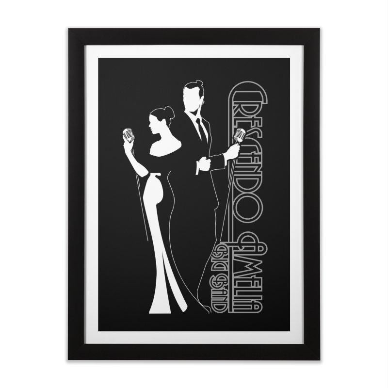Crescendo Amelia Big Band - Silhouette Home Framed Fine Art Print by Crescendo Amelia Merchandise