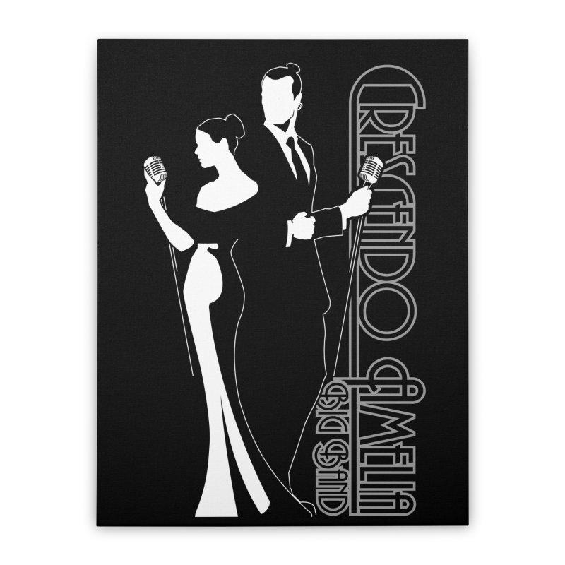 Crescendo Amelia Big Band - Silhouette Home Stretched Canvas by Crescendo Amelia Merchandise