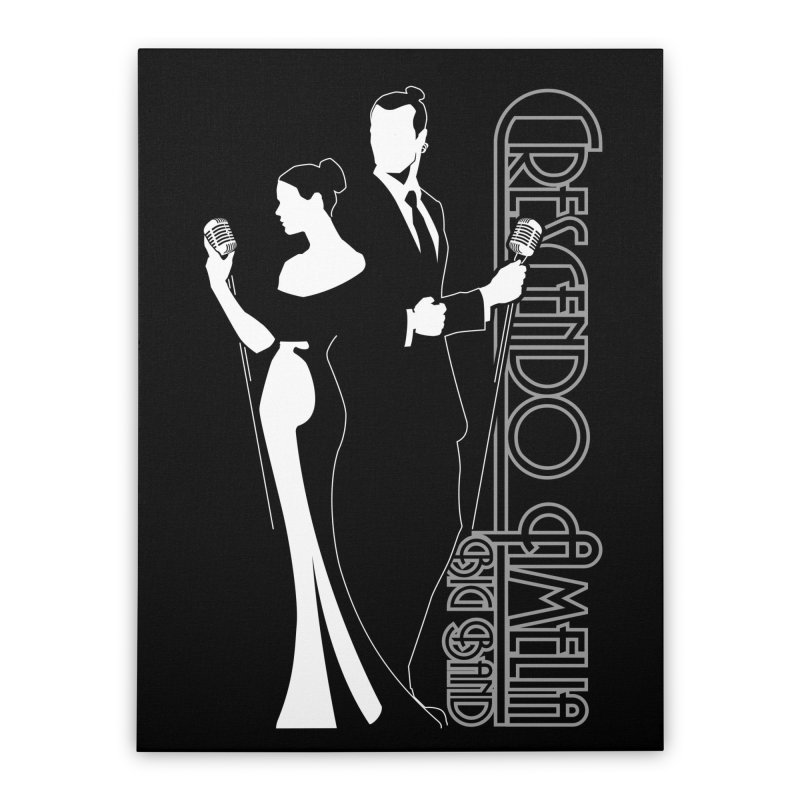 Crescendo Amelia Big Band - Silhouette Home Stretched Canvas by Crescendo Amelia Merchandise