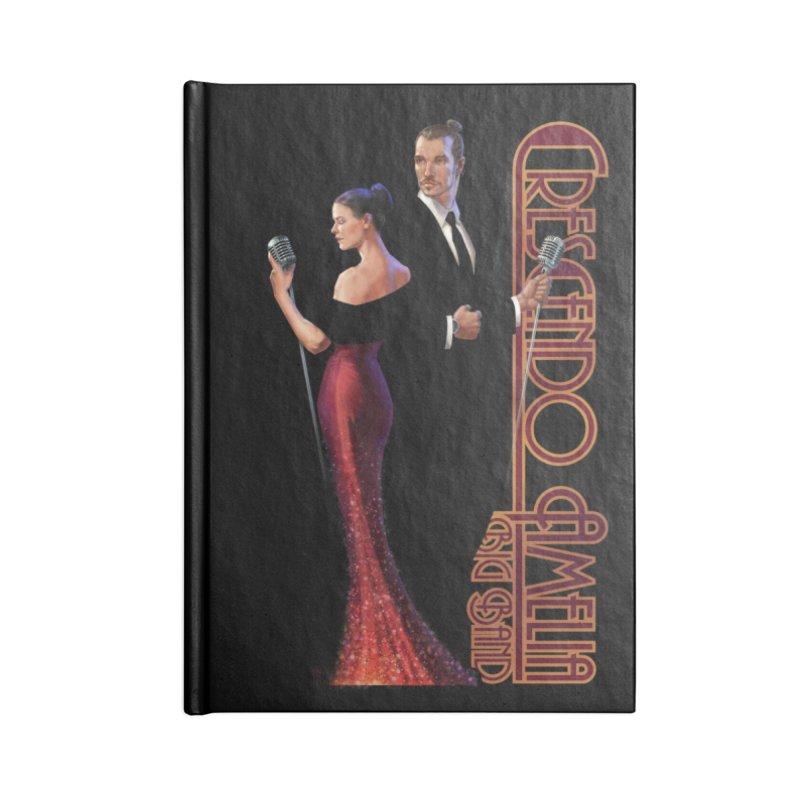 Crescendo Amelia Big Band - Reed & Marah Accessories Blank Journal Notebook by Crescendo Amelia Merchandise