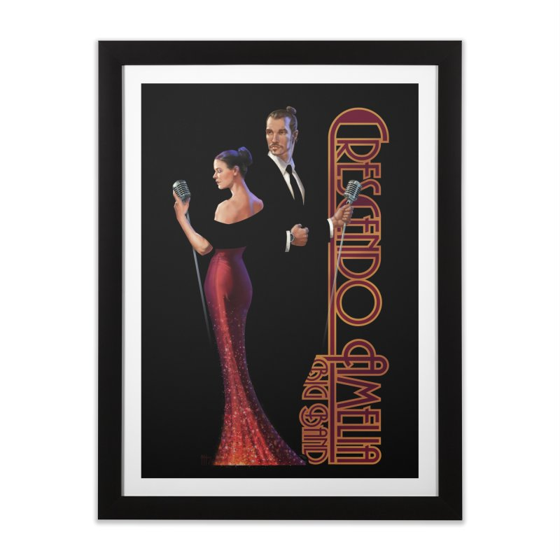 Crescendo Amelia Big Band - Reed & Marah Home Framed Fine Art Print by Crescendo Amelia Merchandise