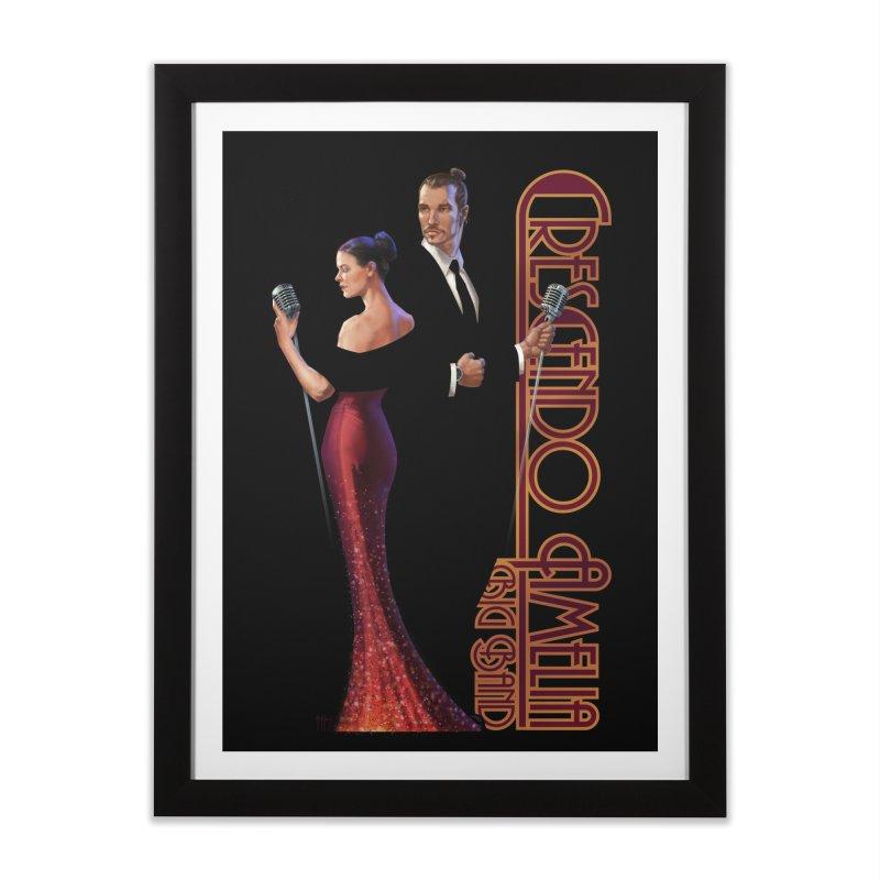 Crescendo Amelia Big Band - Reed & Marah Home Framed Fine Art Print by Crescendo Amelia Merchandise