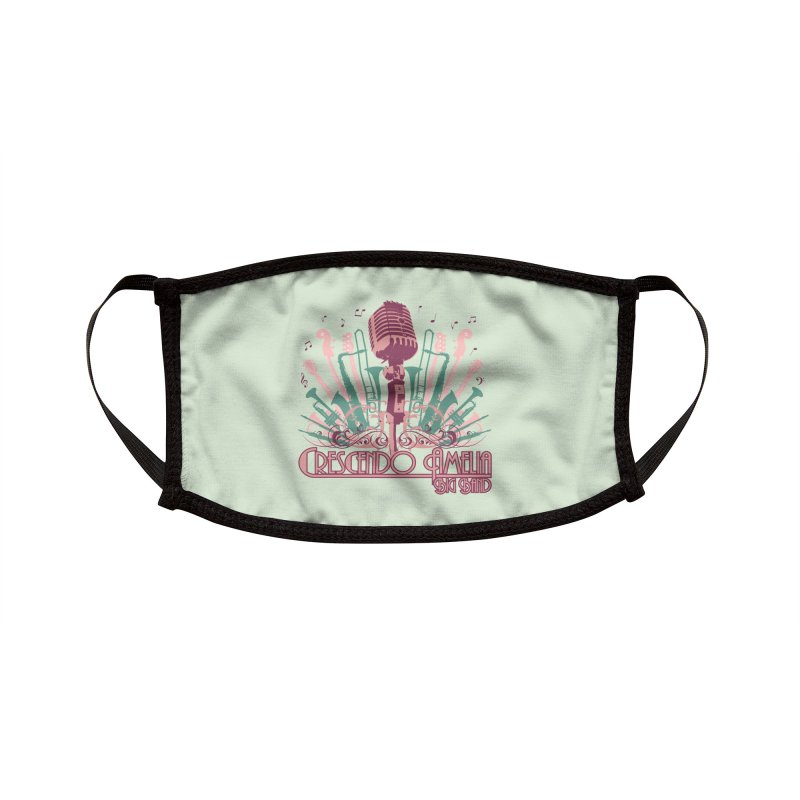 Crescendo Amelia Big Band - Microphone Pink Accessories Face Mask by Crescendo Amelia Merchandise