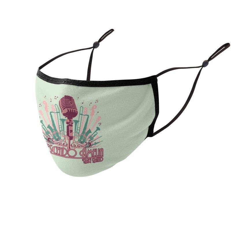 Crescendo Amelia Big Band - Microphone Pink Accessories Face Mask by Crescendo Amelia Merchandise