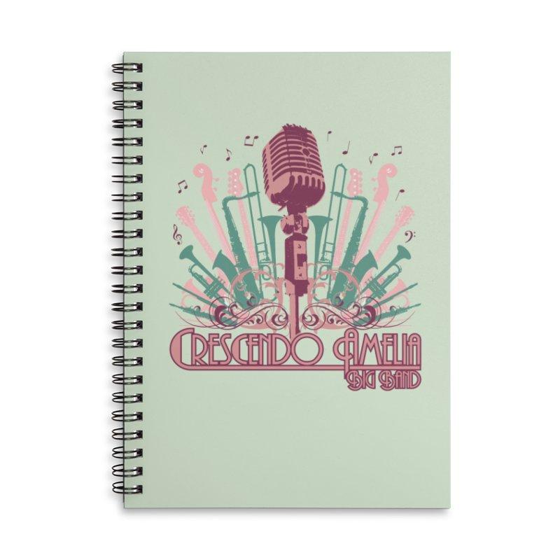 Crescendo Amelia Big Band - Microphone Pink Accessories Notebook by Crescendo Amelia Merchandise