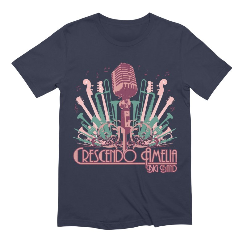 Crescendo Amelia Big Band - Microphone Pink Men's Extra Soft T-Shirt by Crescendo Amelia Merchandise