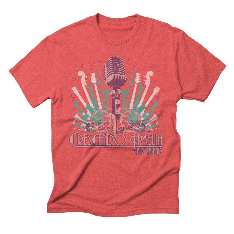 Crescendo Amelia Big Band - Microphone Pink Men's T-Shirt by Crescendo Amelia Merchandise