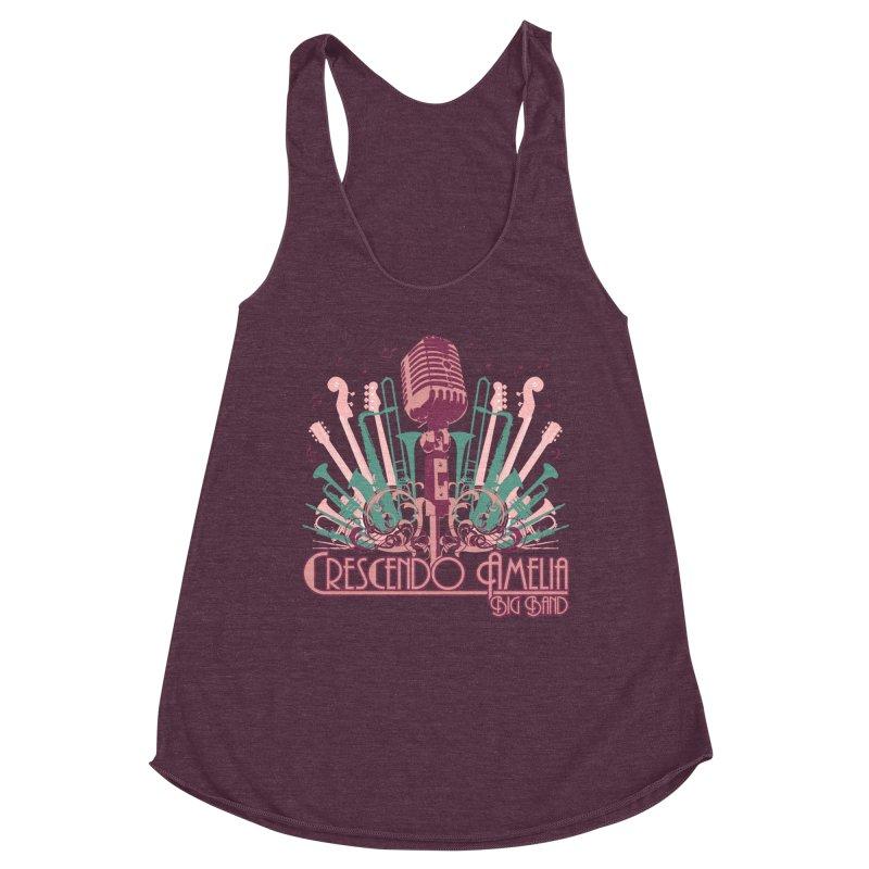 Crescendo Amelia Big Band - Microphone Pink Women's Tank by Crescendo Amelia Merchandise