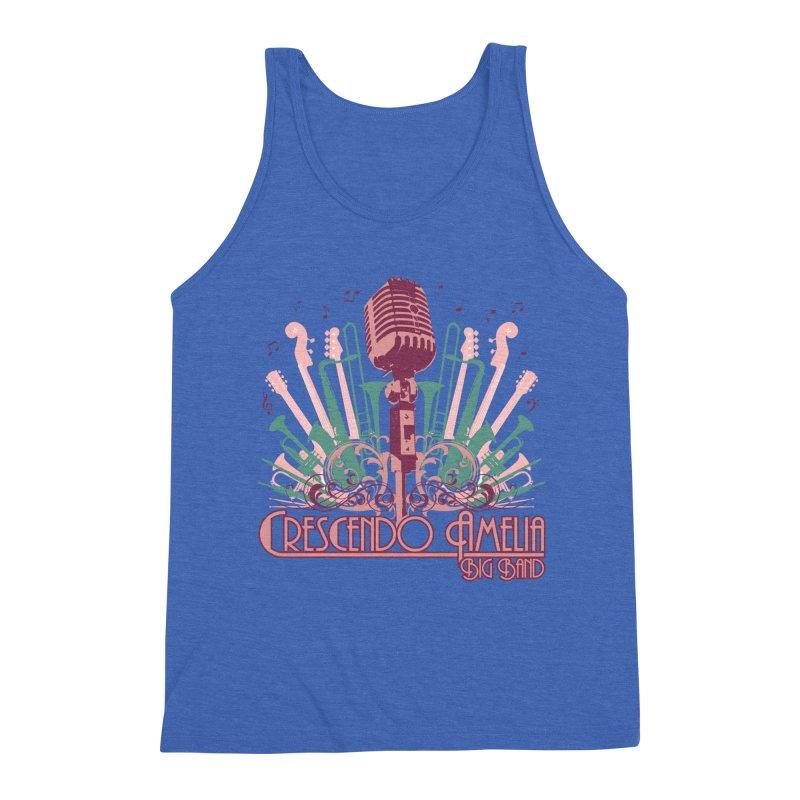 Crescendo Amelia Big Band - Microphone Pink Men's Tank by Crescendo Amelia Merchandise