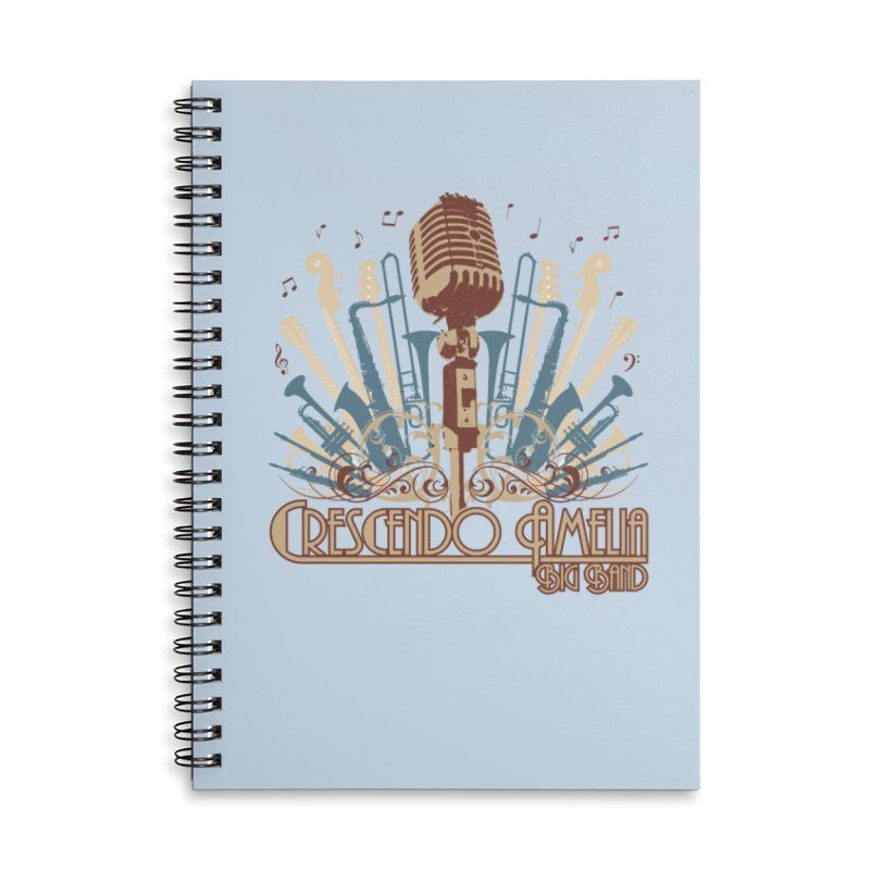 Crescendo Amelia Big Band - Microphone Brown Accessories Notebook by Crescendo Amelia Merchandise