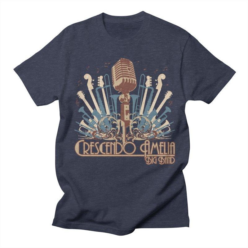 Crescendo Amelia Big Band - Microphone Brown Women's T-Shirt by Crescendo Amelia Merchandise