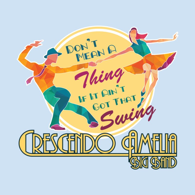 Crescendo Amelia Big Band - Swing Men's T-Shirt by Crescendo Amelia Merchandise