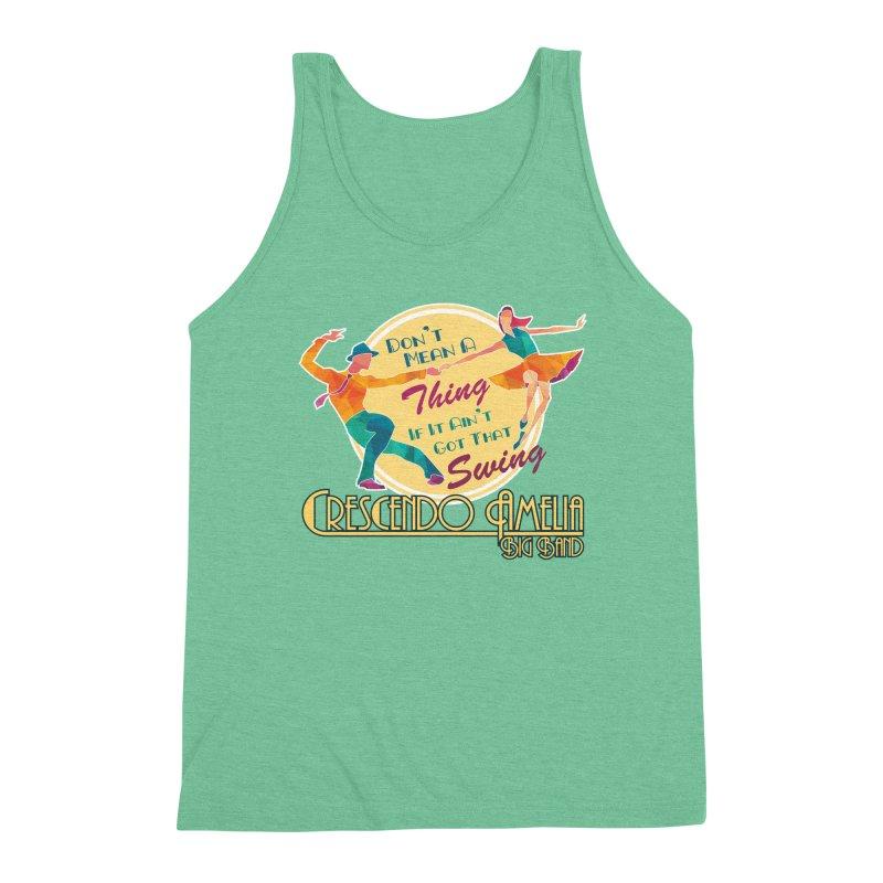 Crescendo Amelia Big Band - Swing Men's Triblend Tank by Crescendo Amelia Merchandise