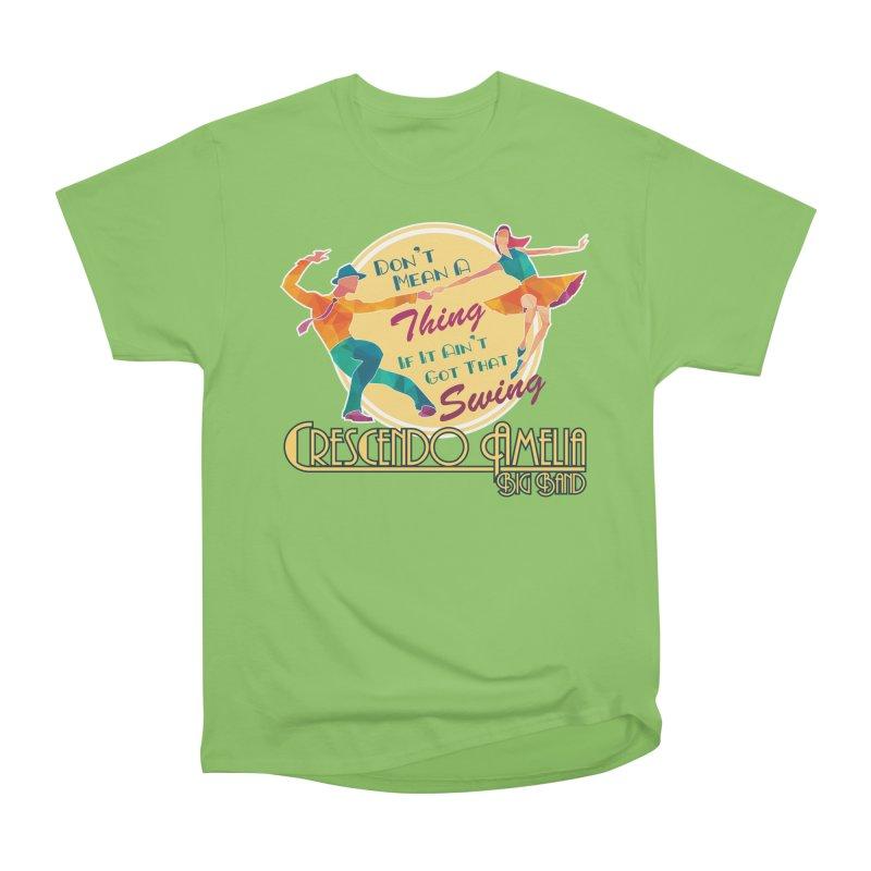 Crescendo Amelia Big Band - Swing Men's Heavyweight T-Shirt by Crescendo Amelia Merchandise