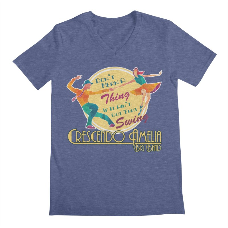 Crescendo Amelia Big Band - Swing Men's V-Neck by Crescendo Amelia Merchandise