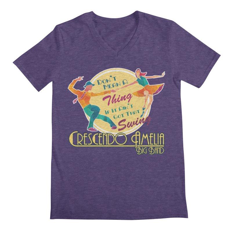 Crescendo Amelia Big Band - Swing Men's Regular V-Neck by Crescendo Amelia Merchandise