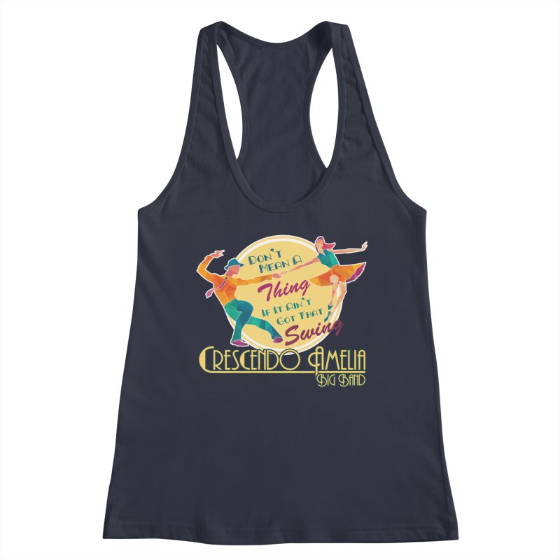 Crescendo Amelia Big Band - Swing Women's Racerback Tank by Crescendo Amelia Merchandise