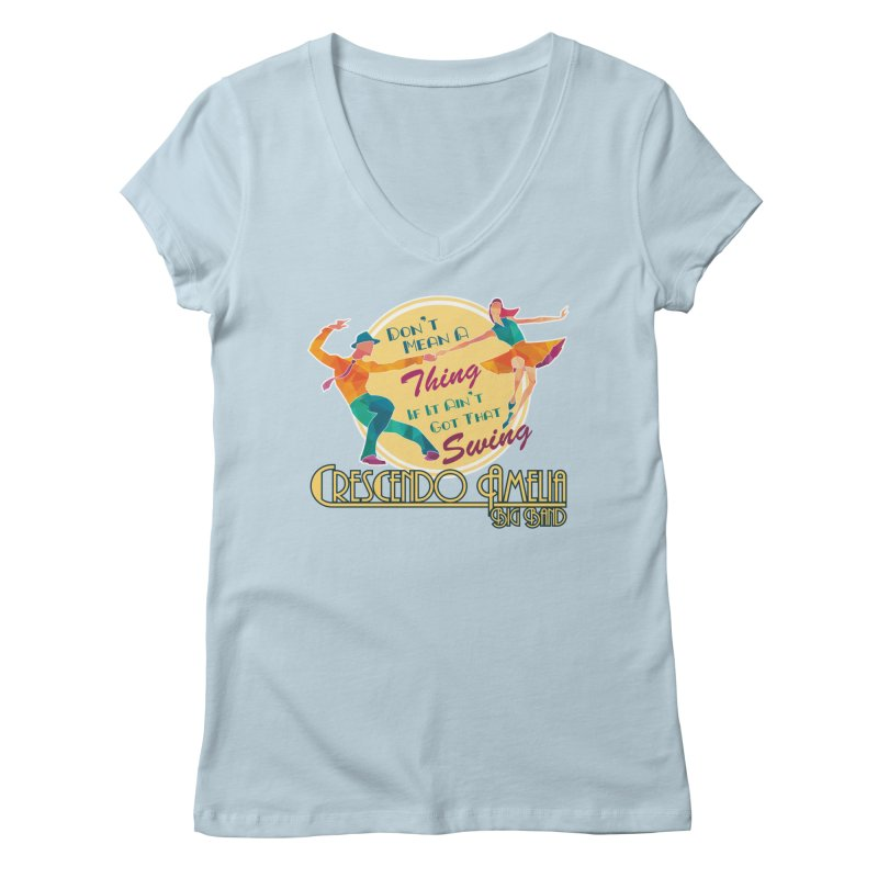 Crescendo Amelia Big Band - Swing Women's V-Neck by Crescendo Amelia Merchandise