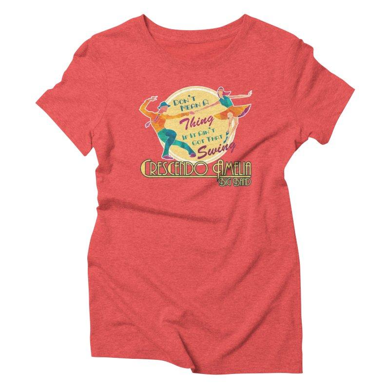 Crescendo Amelia Big Band - Swing Women's Triblend T-Shirt by Crescendo Amelia Merchandise