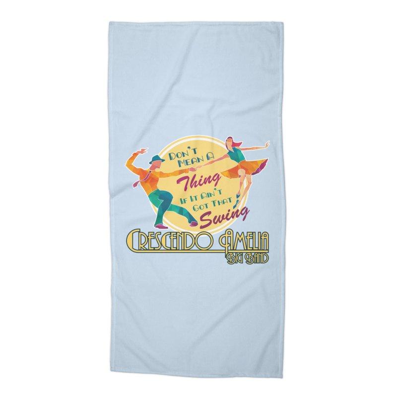 Crescendo Amelia Big Band - Swing Accessories Beach Towel by Crescendo Amelia Merchandise