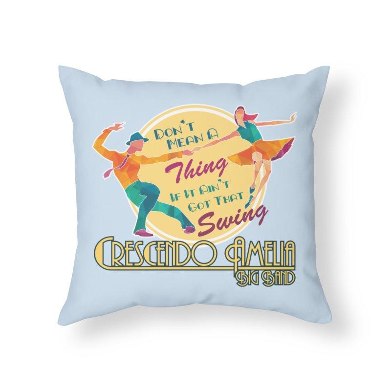 Crescendo Amelia Big Band - Swing Home Throw Pillow by Crescendo Amelia Merchandise