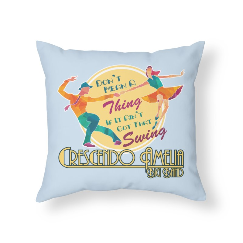 Crescendo Amelia Big Band - Swing Home Throw Pillow by Crescendo Amelia Merchandise