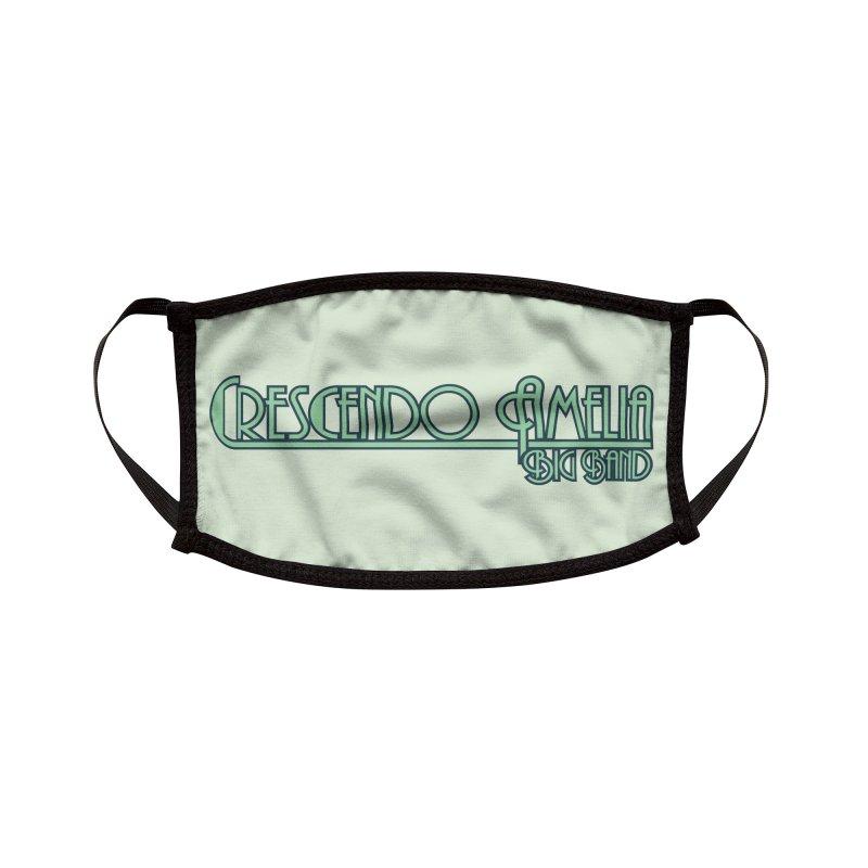 Crescendo Amelia Big Band - Blue Logo Accessories Face Mask by Crescendo Amelia Merchandise