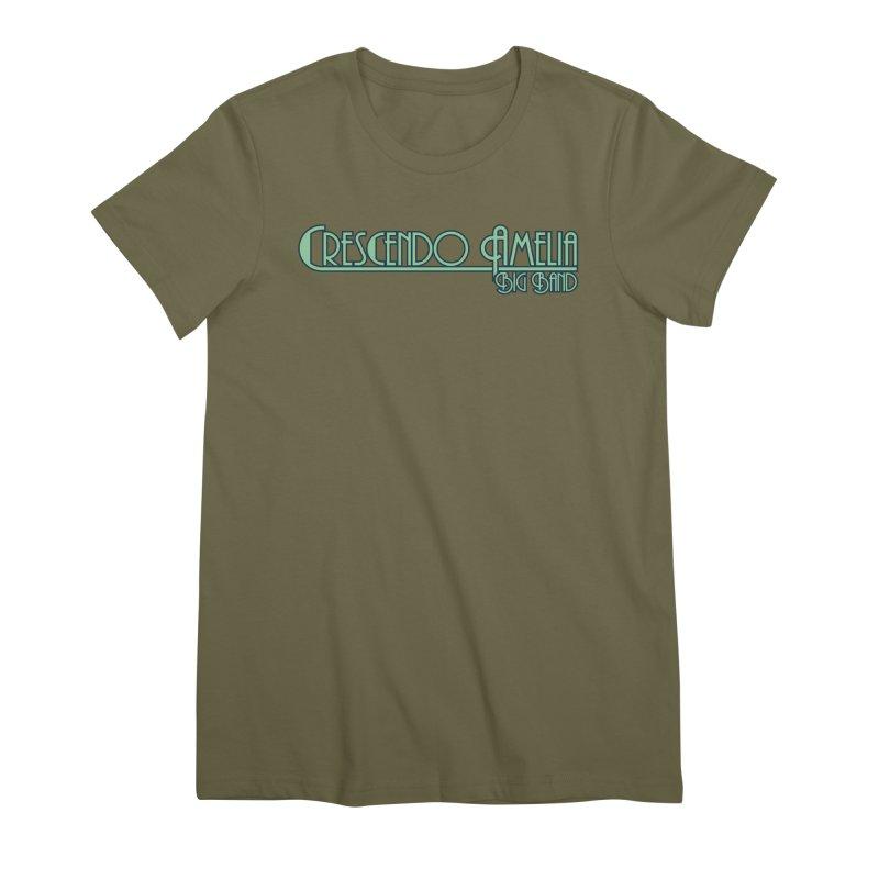 Crescendo Amelia Big Band - Blue Logo Women's Premium T-Shirt by Crescendo Amelia Merchandise