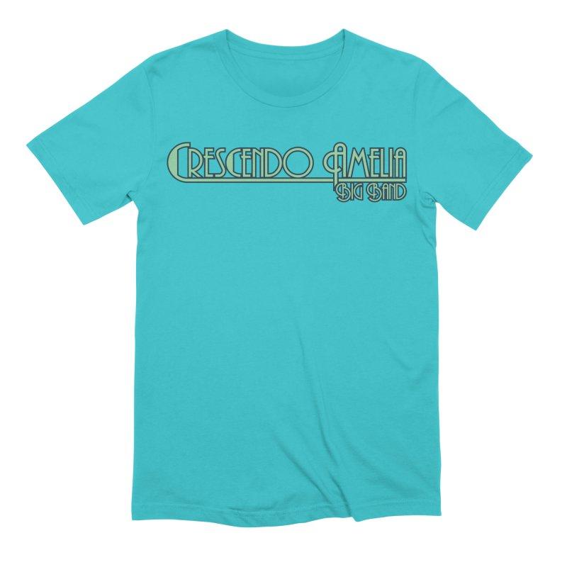 Crescendo Amelia Big Band - Blue Logo Men's T-Shirt by Crescendo Amelia Merchandise
