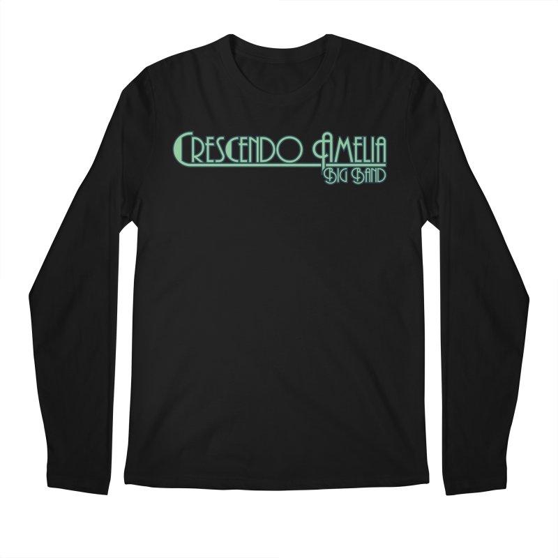Crescendo Amelia Big Band - Blue Logo Men's Longsleeve T-Shirt by Crescendo Amelia Merchandise