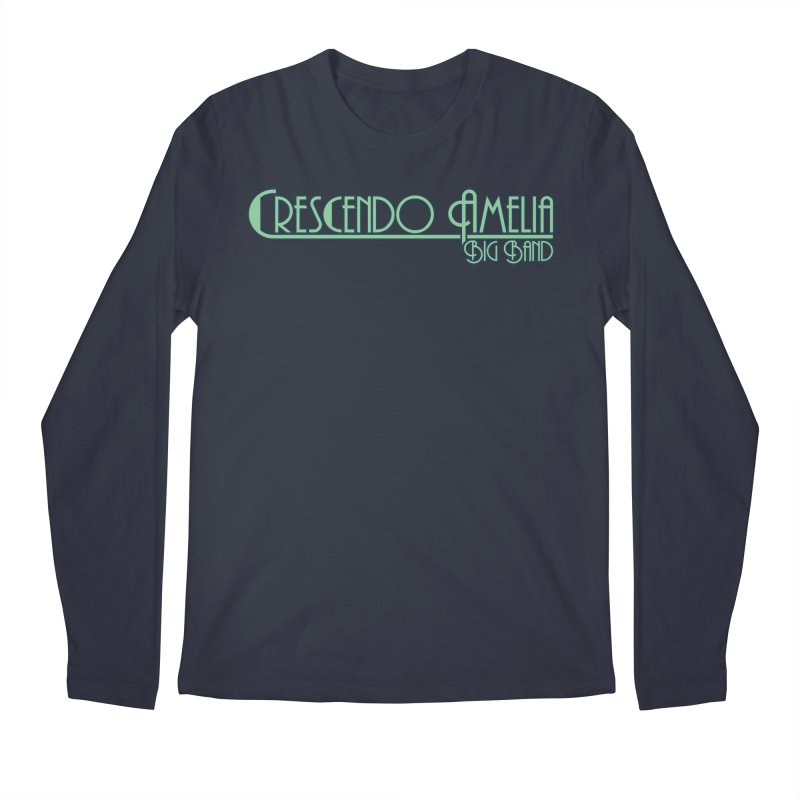 Crescendo Amelia Big Band - Blue Logo Men's Longsleeve T-Shirt by Crescendo Amelia Merchandise