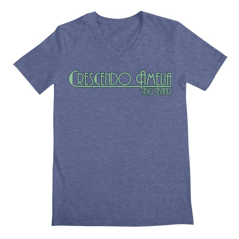 Crescendo Amelia Big Band - Blue Logo Men's V-Neck by Crescendo Amelia Merchandise