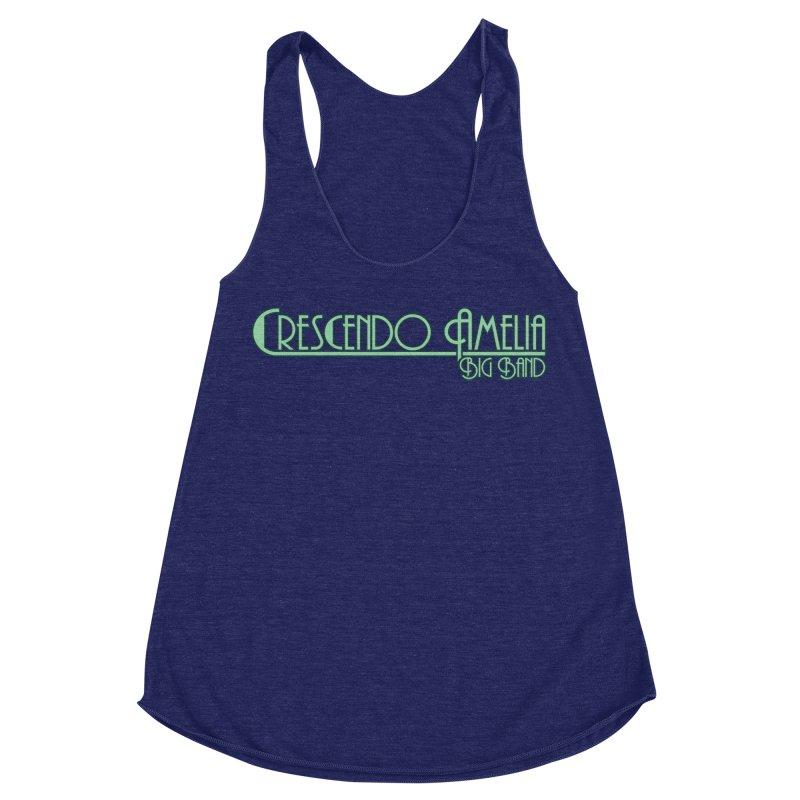 Crescendo Amelia Big Band - Blue Logo Women's Racerback Triblend Tank by Crescendo Amelia Merchandise