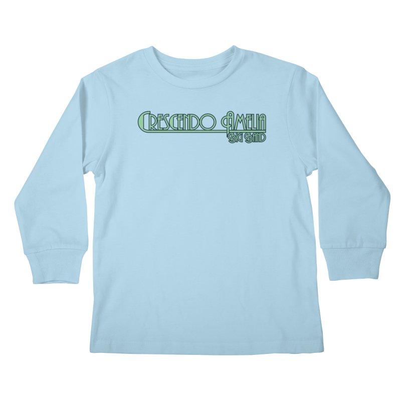 Crescendo Amelia Big Band - Blue Logo Kids Longsleeve T-Shirt by Crescendo Amelia Merchandise